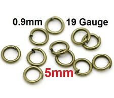 5mm Open Jump Rings - 9 Colors Available! Single Loop - High Quality!
