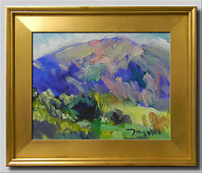 """Mountain Scene"" Original Oil Framed Artist JOSE TRUJILLO Signed Impressionist"