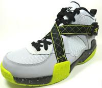 Nike Air Raid GS 644412 001 Boys Shoes Basketball Sneakers Black Grey Leather
