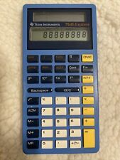 Texas Instruments Math Explorer Calculator Solar Powered Tested-Works Great!
