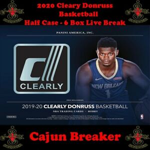 LOS ANGELES LAKERS *HALF CASE - 6 BOX LIVE BREAK* 2019-21 CLEARLY DONRUSS