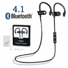 Sports Bluetooth 4.1 Wireless Headset  Earbud Earphone Headphone in Ear Hook