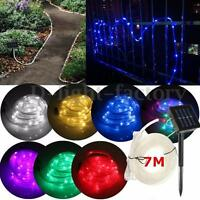23ft 50 LED Solar Power Rope Tube Lights Strip Waterproof Outdoor Garden Part