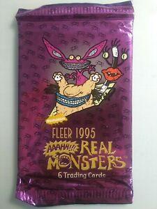 1995 Fleer Nickelodeon Aaahh!!! Real Monsters Unopened Pack SHIPS FREE!!)