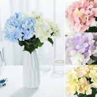 7 Heads Artificial Silk Hydrangea Flower Floral Bouquet Home Wedding Party Decor
