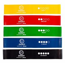 "Resistance Loop Bands Set of 5 Exercise Yoga Fitness Crossfit Latex 12""×2"" size"