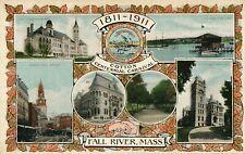 FALL RIVER MA – 1811-1911 Cotton Centennial Carnival Six Scenes Postcard