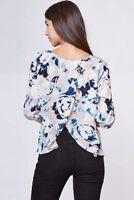 NWT NEW Yumi Kim Turn Around Silk Top In Blue Surfer Floral Print XS