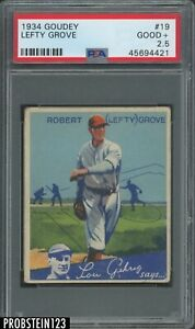 1934 Goudey #19 Lefty Grove Boston Red Sox HOF PSA 2.5 Good+