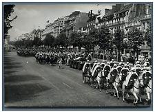 Paris, transfert des cendres du Maréchal Lyautey aux Invalides  Vintage silver p
