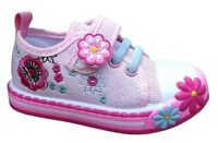 Girls canvas shoes trainers 8 UK Summer Plimsols BABY GIRL Toddler NEW !!