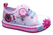 Ragazze Tela Scarpe Da Ginnastica 8 UK Estate PLIMSOLS BABY Girl Toddler NUOVO!!