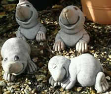 Mole Family - Garden Ornament  - Hand Cast