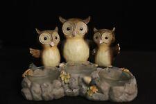 Yankee Candle Triple Owl Tea Light Candle Holder