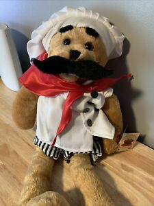 """Chantilly Bear """"ALFREDO"""" Plush Singing CHEF THAT Sings AMORE Song Tested Works"""