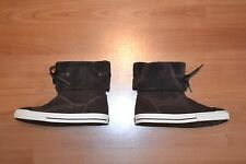 CONVERSE CHUCK TAYLOR ALL STAR + ANDOVER BOOT HI + BROWN SUEDE LEATHER SIZE 2.5