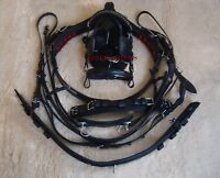 Exclusive Quality leather Driving harness for single horse cart - in 4 sizes