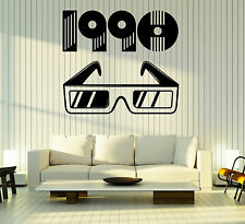 Wall Vinyl Decal 1990 Retro Style Stereo Glasses Watch Home Interior Decor z4833