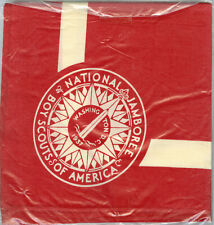 1937 Boy Scout National Jamboree FULL SQUARE Red Neckerchief