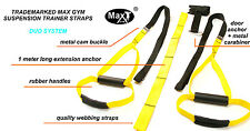 Oryginal Suspension MaxGym® trainer. Body Trainer. Duo Straps. Home Fitness