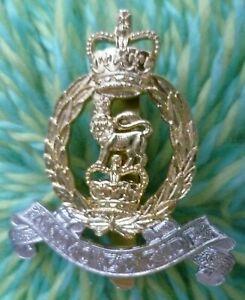 Staybrite Adjutant General Corps Cap Badge QC Anodised Aluminium FIRMIN