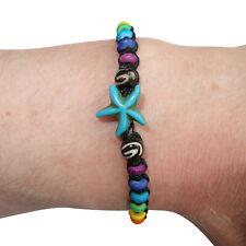Starfish Bracelet Rainbow Wristband Bead Bangle Mens Womens Boys Girls Jewellery
