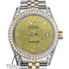Ladies Rolex 31mm Datejust 2 Two Tone Champagne Gold Jubilee Roman Numeral Dial