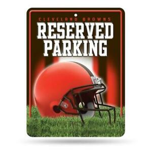 Cleveland Browns Metal Reserved Parking Sign [NEW] NFL Wall Embossed Garage