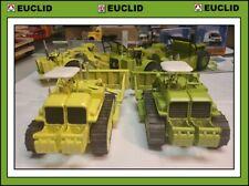 CUSTOM EUCLID Corgi TC-12 Bulldozer w GARWOOD Push Block