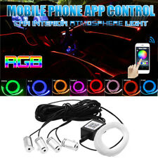 4x Car Interior Atmosphere Light 6m Neon Strips App Bluetooth Controller Rgb Led Fits 2002 Mitsubishi Eclipse