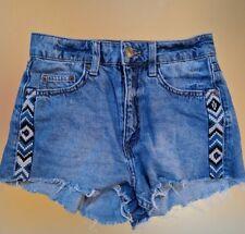 H&M Size 4 Denim Shorts Boho