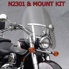 HONDA VTX1300C 2004-2009 N.C.DAKOTA 4.5 WINDSHIELD N2301 & MOUNT