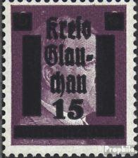 Glauchau (Sachsen) 5b mit Falz 1945 Lokaler Überdruck