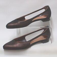 CARVELA KURT GEIGER Ladies Bronze Leather Slip On Flat Evening Shoes UK 5