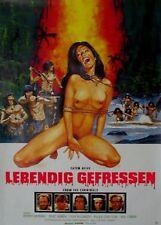 LEBENDIG GEFRESSEN (Ital 1980) - Orig.Kino-Plakat A1 - HORROR - Lenzi