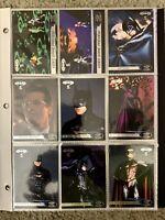 BATMAN FOREVER MOVIE SERIES 1995 Fleer Ultra 120 Base Card Complete Set & Binder