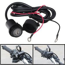 12V Dual USB Port 3A Motorcycle Mobile Phone GPS Power Charger Socket Waterproof