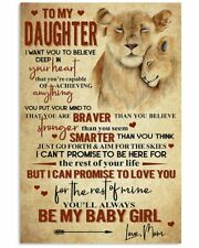 To My Daughter Lion Poster Art Print For  Birthday Christmas Graduation