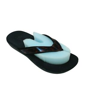 Clarks by Cloudsteppers Brio Sol Womans Sz 8M Tortoiseshell Sport Slide Sandals