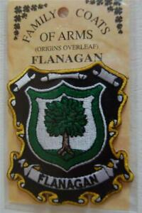 FLANAGAN Family PATCH Heraldic Coat of Arms - Crest - Embroidered - Badge