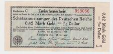 0,42 Goldmark Schatzanweisung des Deutschen Reichs 23.10.1923 Ro.139 a (125251)
