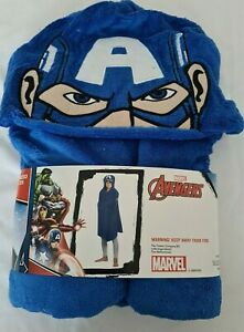 Bnip Marvel Avengers Captain America Hooded Cuddle Robe 80x120cm Blue