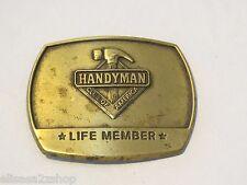 Men's RARE belt buckle vintage Handyman Life Member club of America 1996 handy