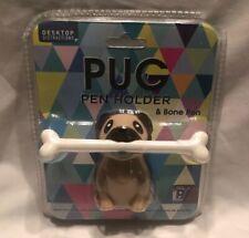 Pug Pen Holder & Bone Novelty Desk Supplies Office Products