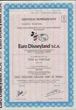 EURO DISNEYLAND FRANCE DD 1983 - Mickey Mouse Vignette - Disney