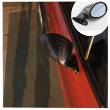 Racing Plane Rearview Mirrors F1 Style Real Carbon Fiber Car Side Wing Kit 2Pcs