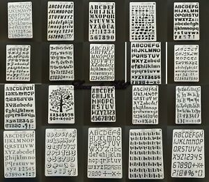 Artistic Alphabet Letters Numbers Stencils Painting Draw Card Making Scrapbook
