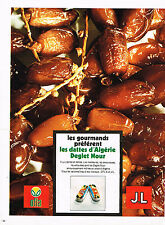 PUBLICITE ADVERTISING 014   1972    DATES D'ALGERIE  DEGLET  NOUR
