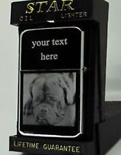 DOGUE DE BORDEAUX DOG PHOTO/ TEXT ENGRAVED LIGHTER GIFT