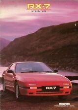 Mazda RX-7 Coupe 1987-88 UK Market Sales Brochure